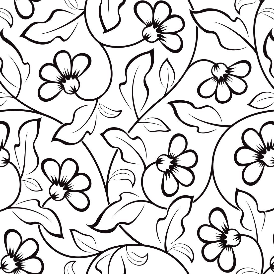 Papel De Parede Floral Folha De Carvalho Preto Fundo Branco