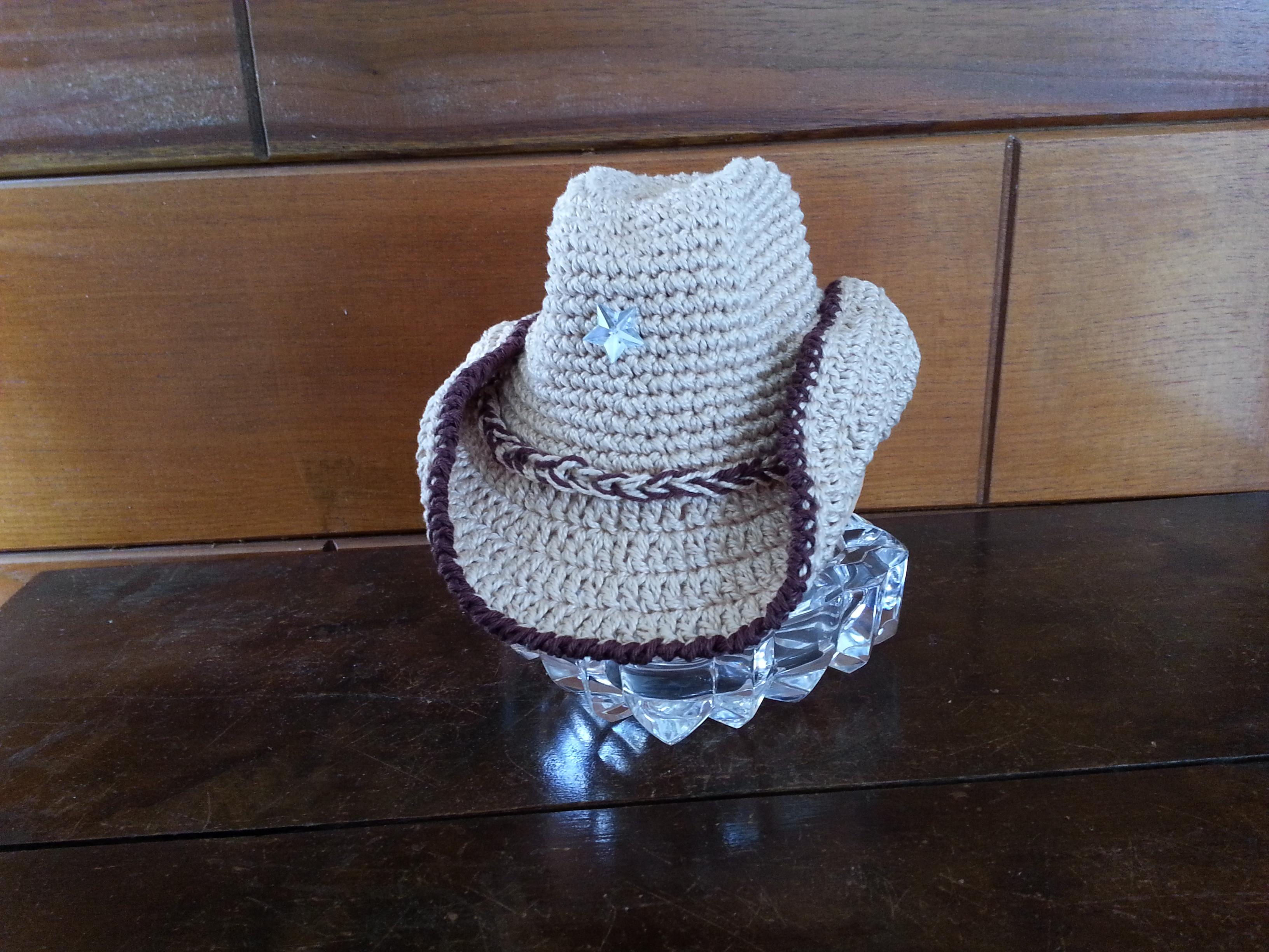 Chapeu Cowboy Newborn em Croche  1ca8ca2e789