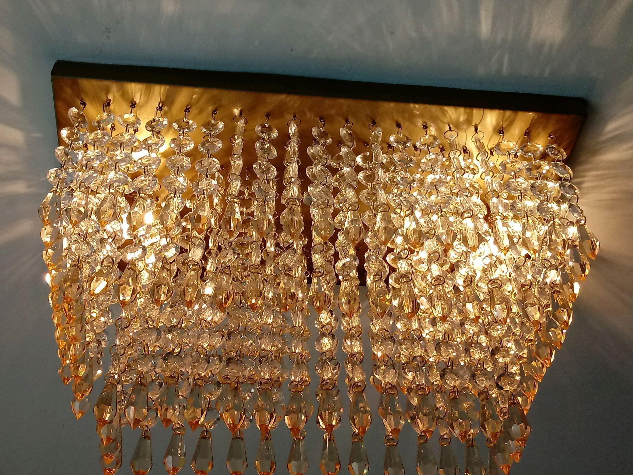 Lustre Plafon Dourado Sala Cissane No Elo7 Lustres Cissane  -> Lustre Para Sala De Jantar Dourado