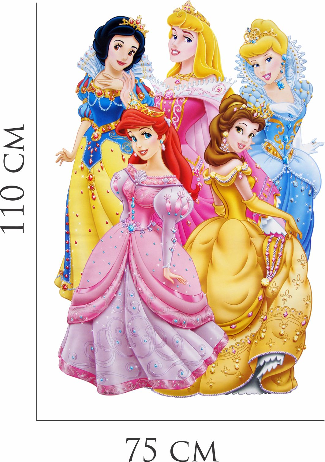 Adesivo Papel De Parede Princesas Branca Neve Cinderela No Elo7