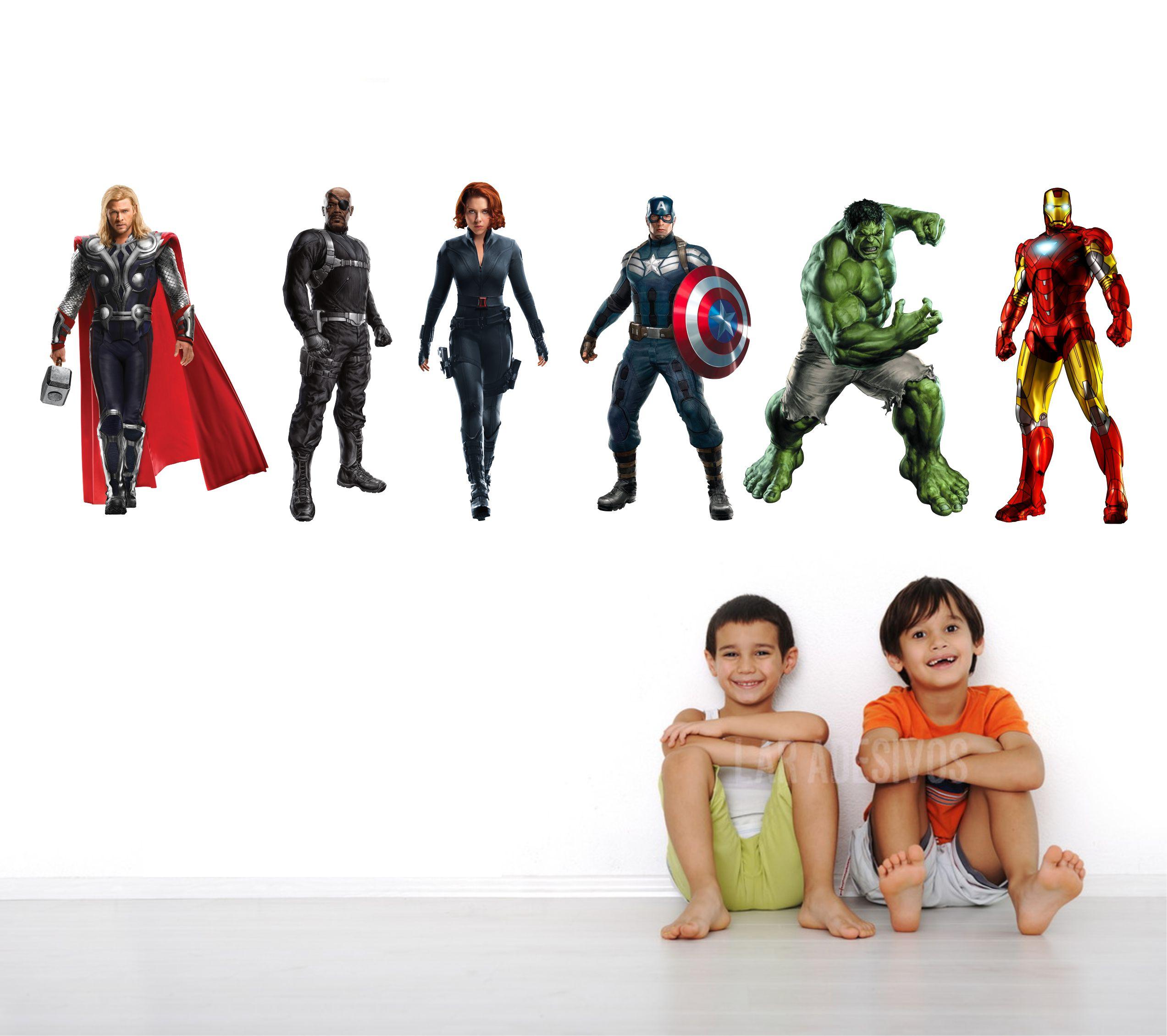 Adesivo Papel De Parede Vingadores Avengers Hulk Thor No Elo7
