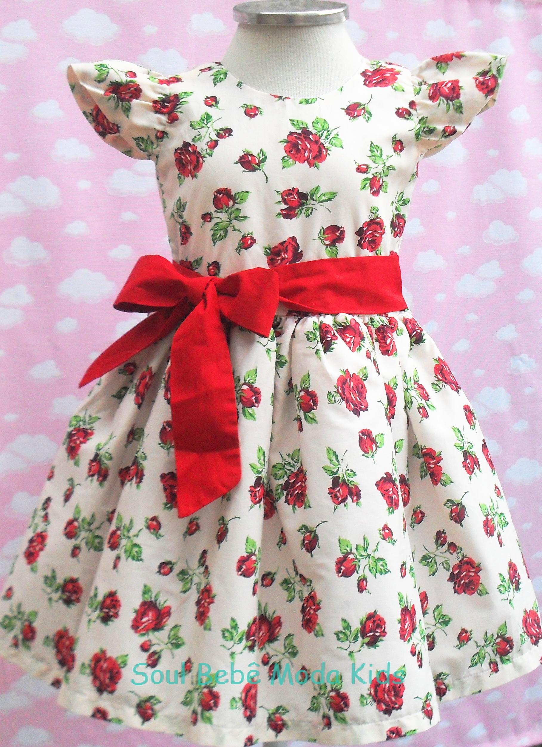 10c325fbcf3 Vestido Festa Infantil Floral no Elo7 | Soul Bebê Moda Kids (967641)