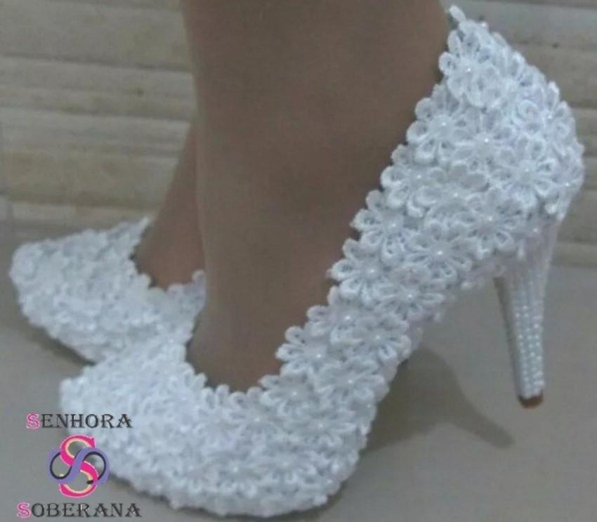 72d1ad1439 Sapato de Noiva Meia Pata