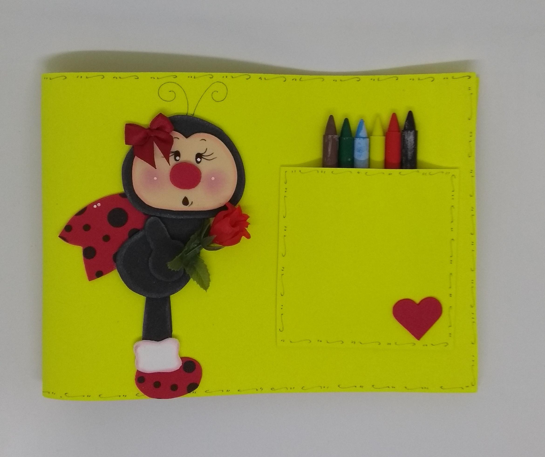 Caderno De Desenho De E V A Com Giz De Cera No Elo7 Tia Rose