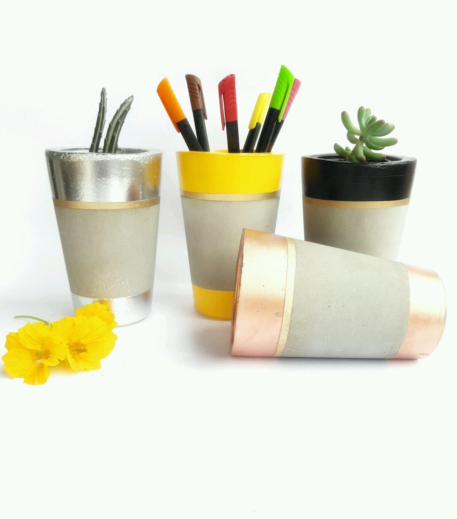 Resultado de imagem para vasos de cimento marmorizado