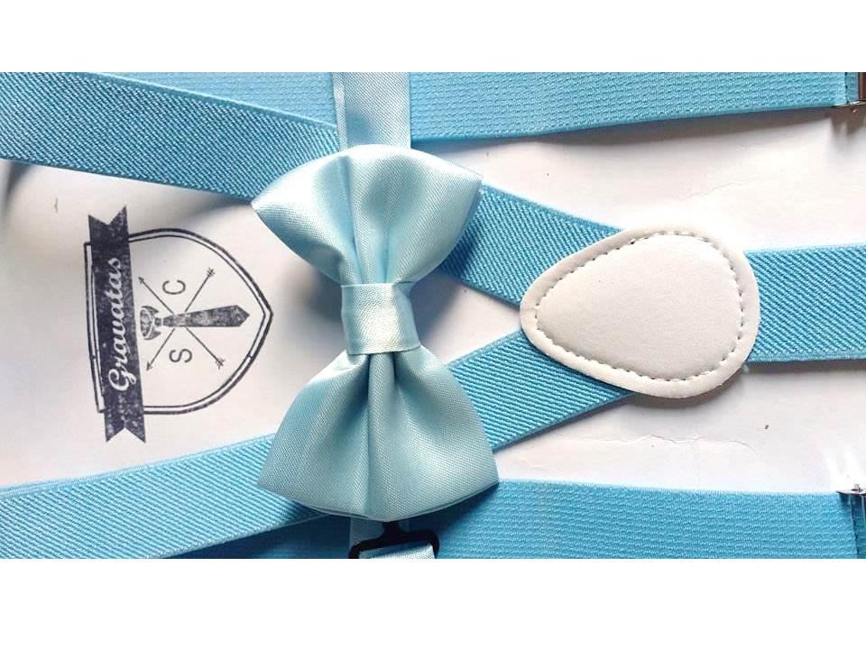 e3ae985fc Kit Suspensório Azul Bebê+ Gravata -Infantil  Pajem no Elo7