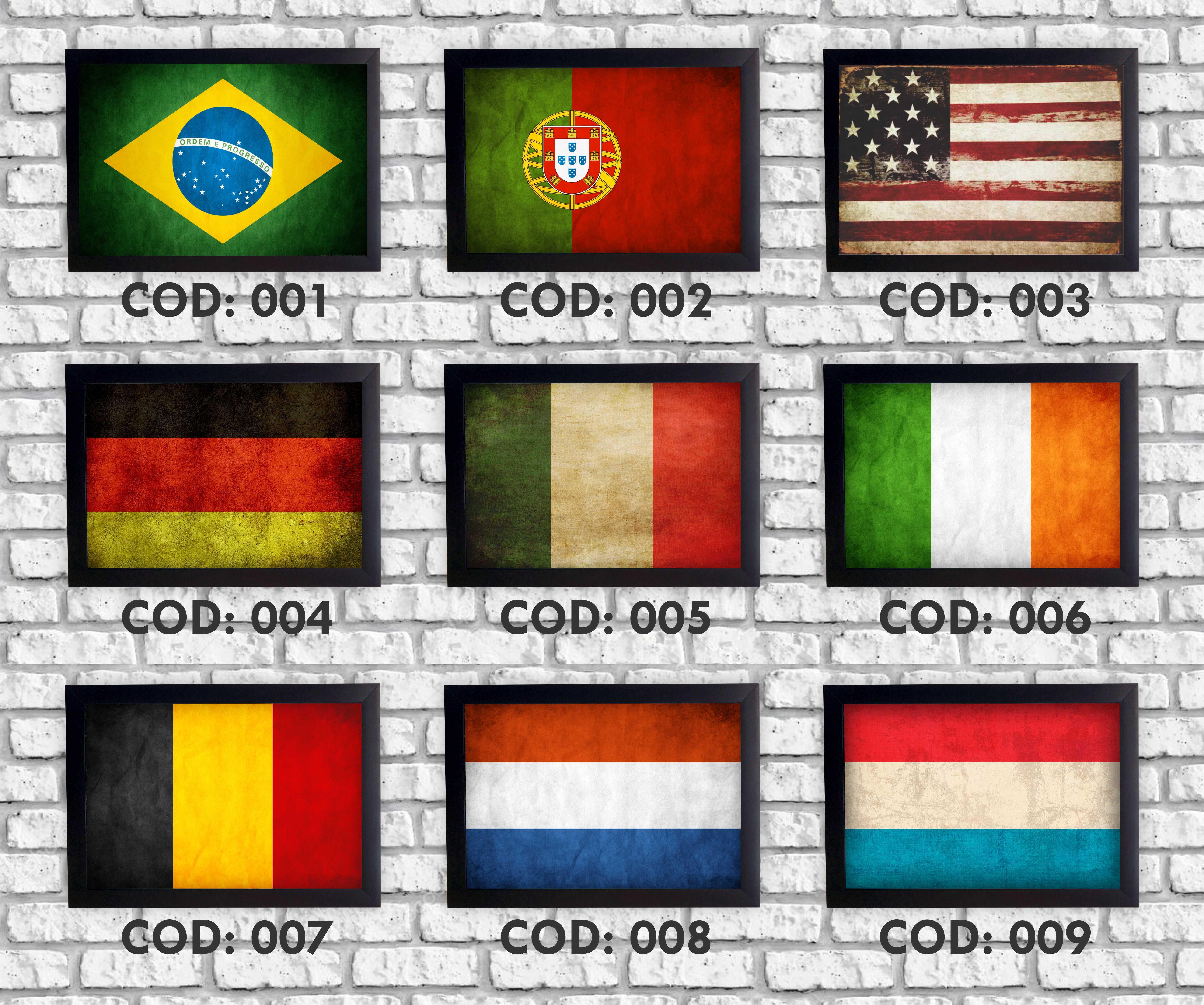 eb1a31a48ffa9 Quadro Decorativo Bandeira Itália Retrô + Moldura no Elo7 ...