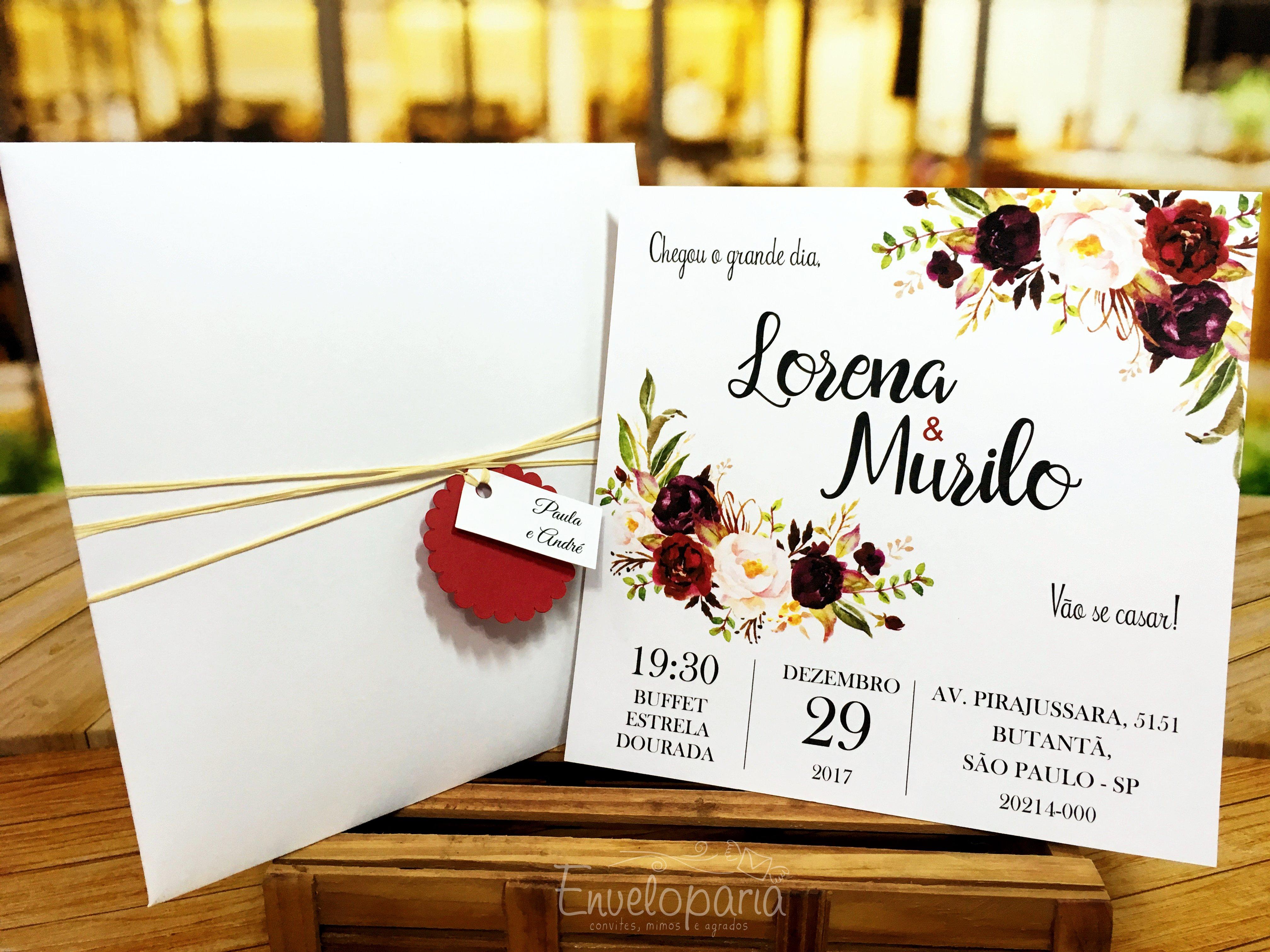 Top Convite Casamento Marsala Square | Enveloparia Mimos e Agrados | Elo7 OO82