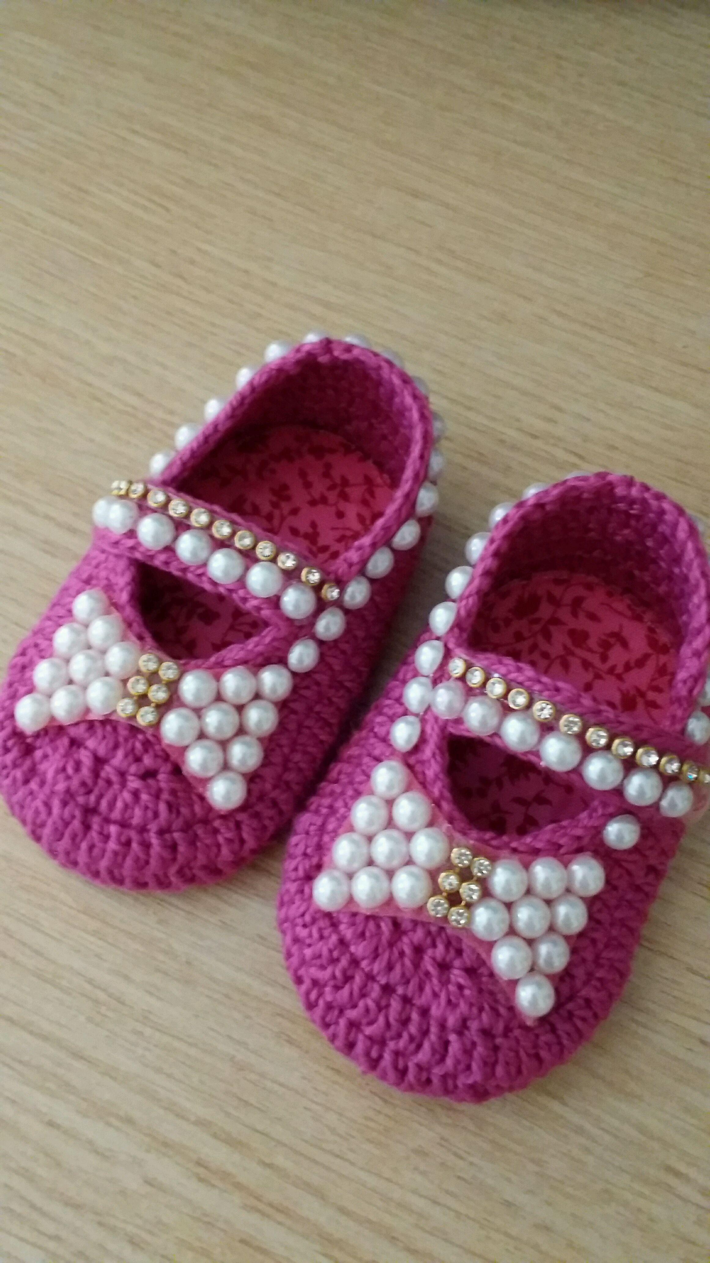 Sapatinho de Crochê para o Bebê  e8304fa908b