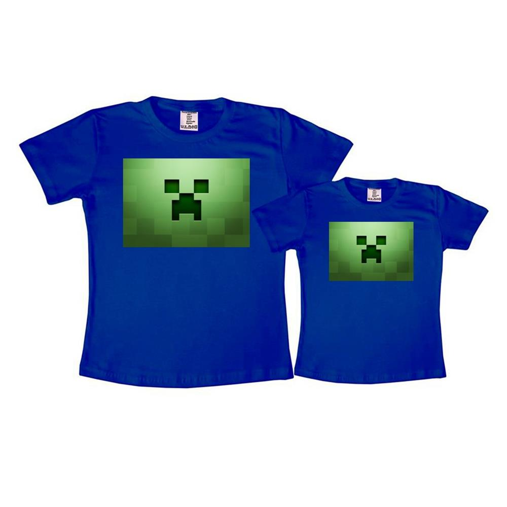 Camiseta Minecraft Wiiferoiz Azul  76504d2bff19c