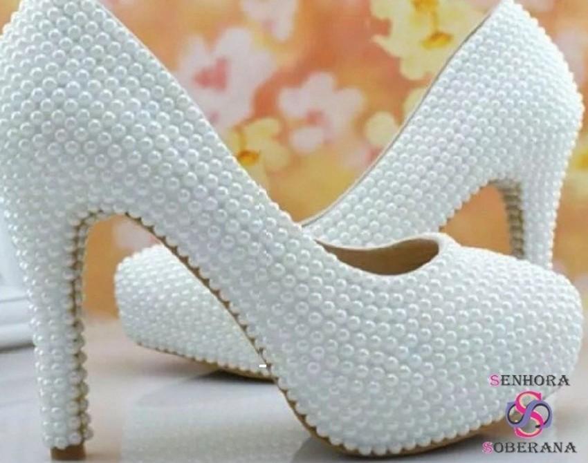 8ceae8b4f0 Sapato para Noiva Scarpin Meia Pata
