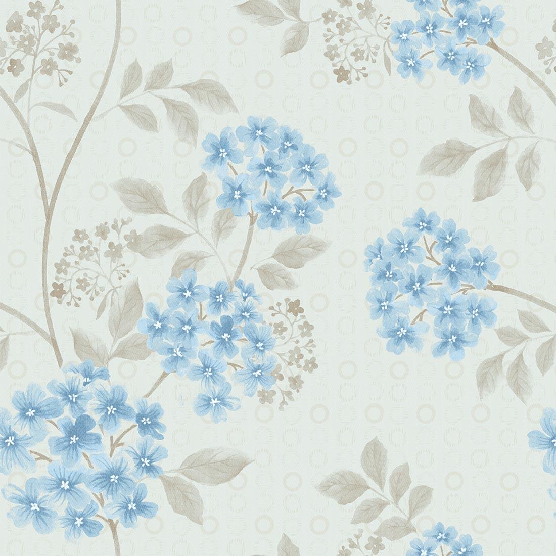 Papel De Parede Autocolante Floral Azul Padr O Vinil 5 00 Mt  ~ Papel De Parede Azul Tiffany Quarto
