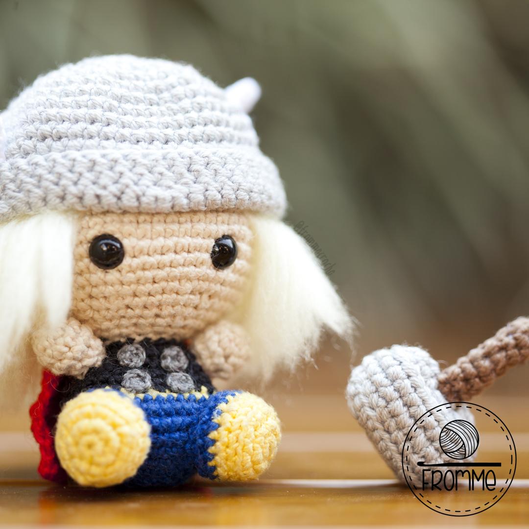 Toy Art Amigurumi Thor Clássico - receita de Crochelandia | 1080x1080