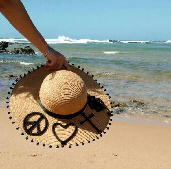 87849bdb3467b Chapeu de Palha Rustico Praia Bordado com Nome