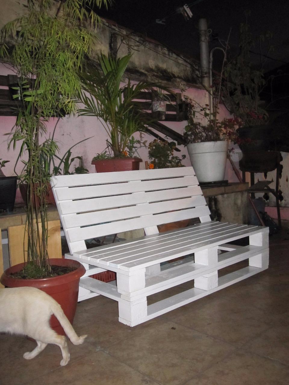 Sofas Em Pallets Ou Banco De Jardim Reclinavel No Elo7 Meu