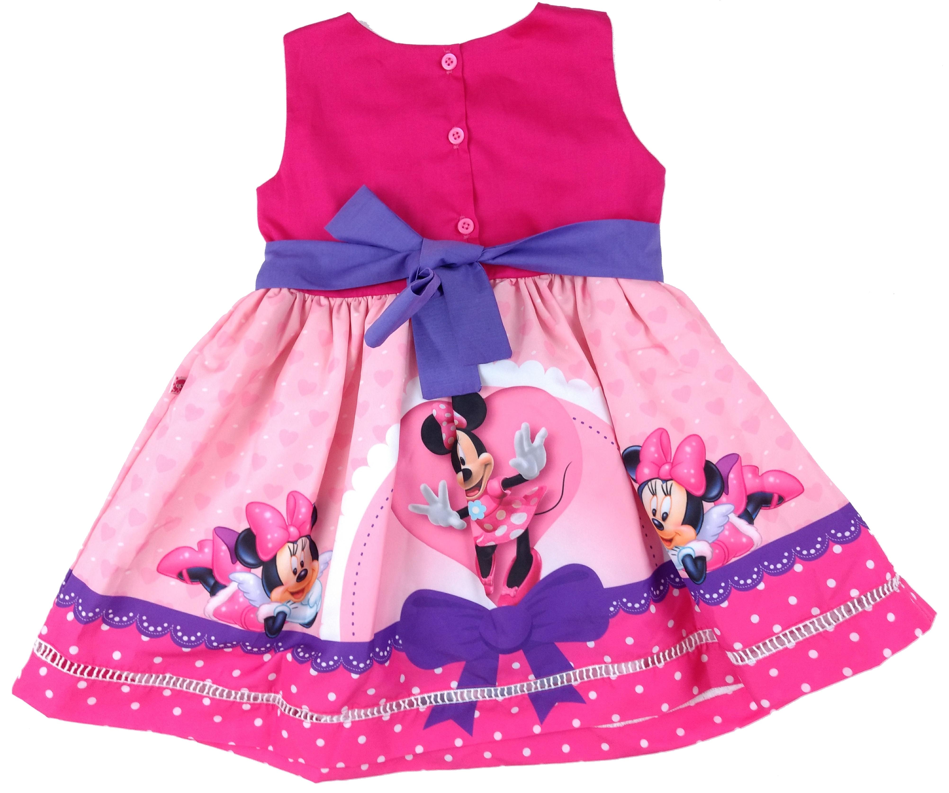 Vestido Minnie Rosa Arco Tam 1 2 4 6 No Elo7 Outlet Kids A8e868