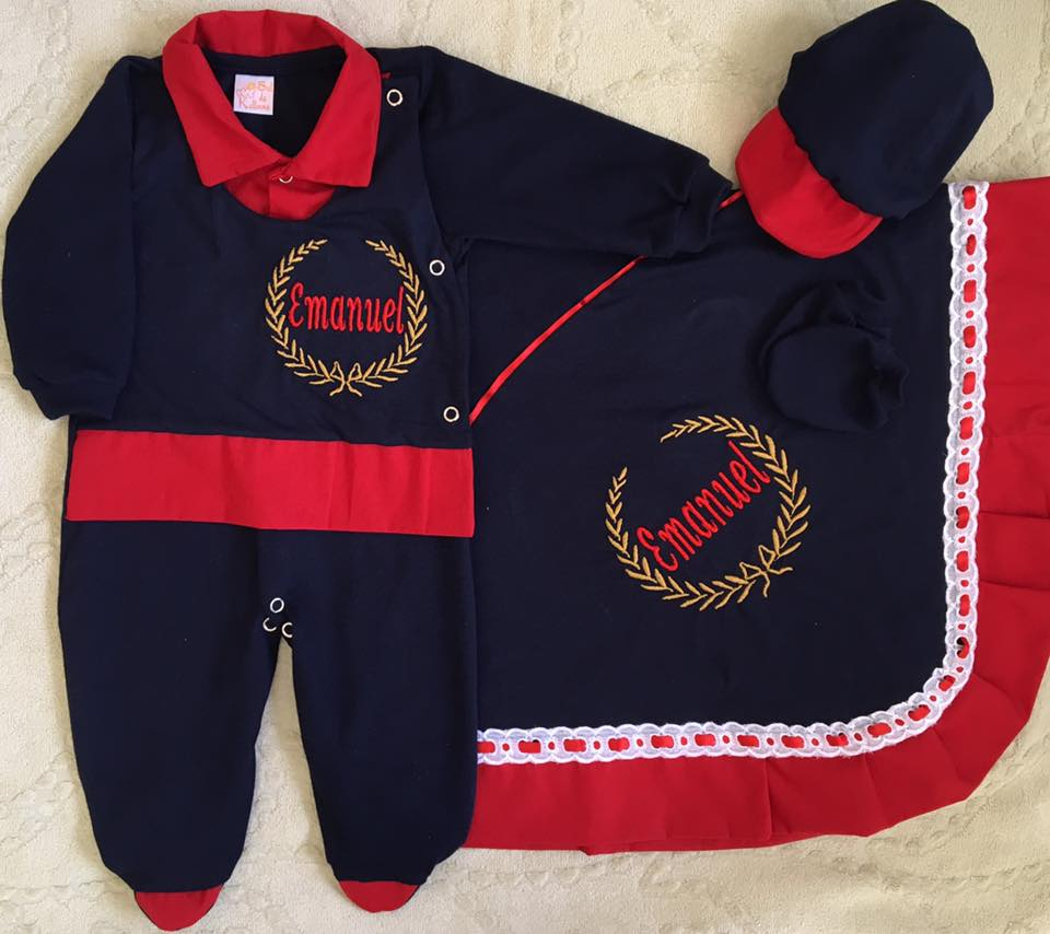 Saída de Maternidade Personalizada Azul Bebê  1a2aa5c07e4