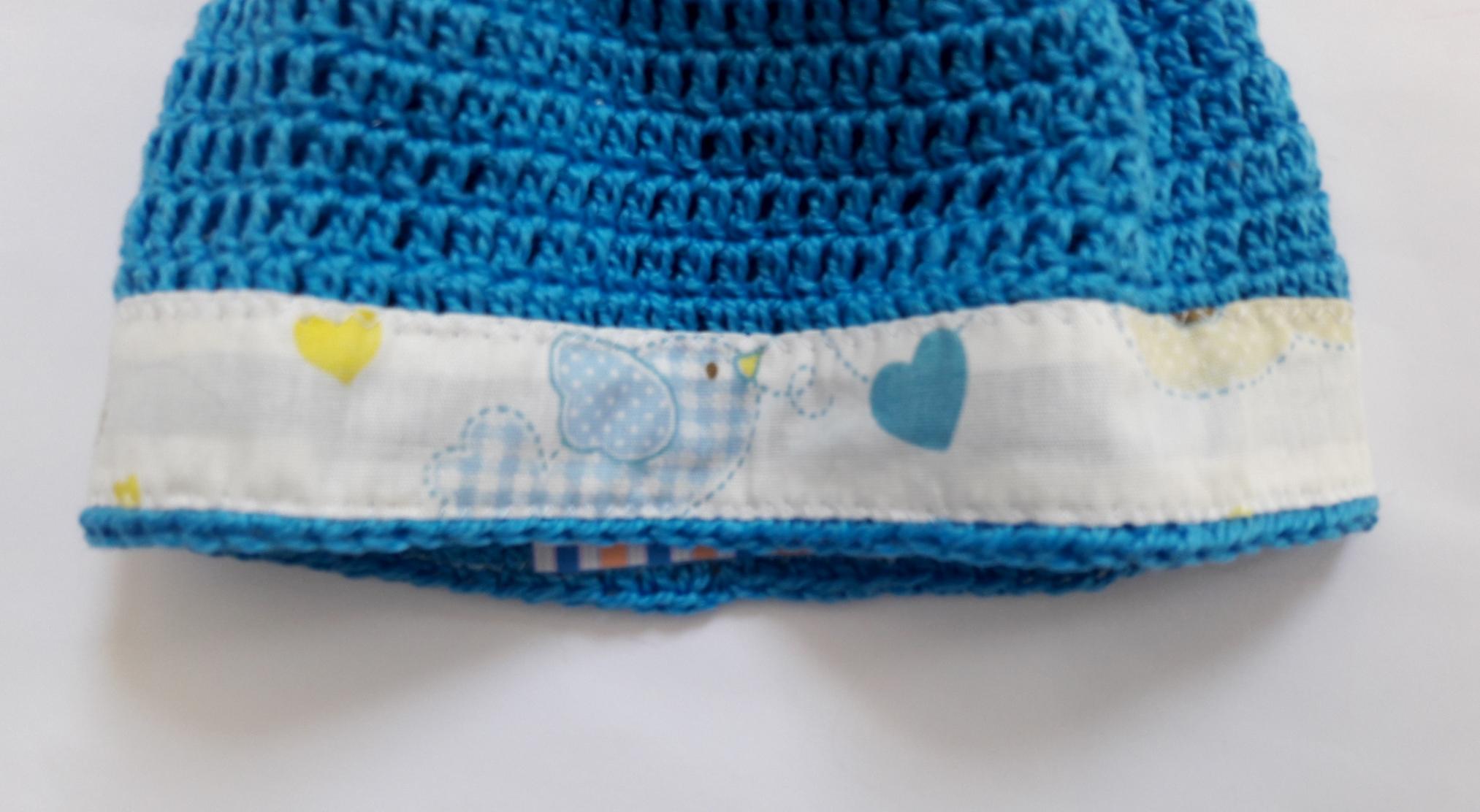 Touca crochê de linha tecido no Elo7  b2de292b75d