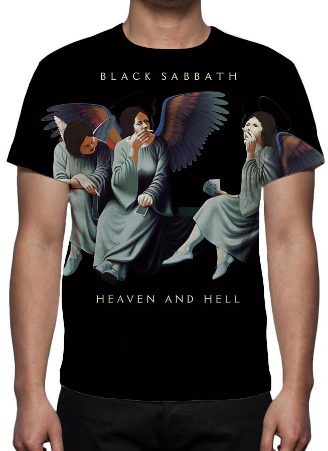 Camiseta Banda Black Sabbath Estampa Total  ab7b2e2d7faca