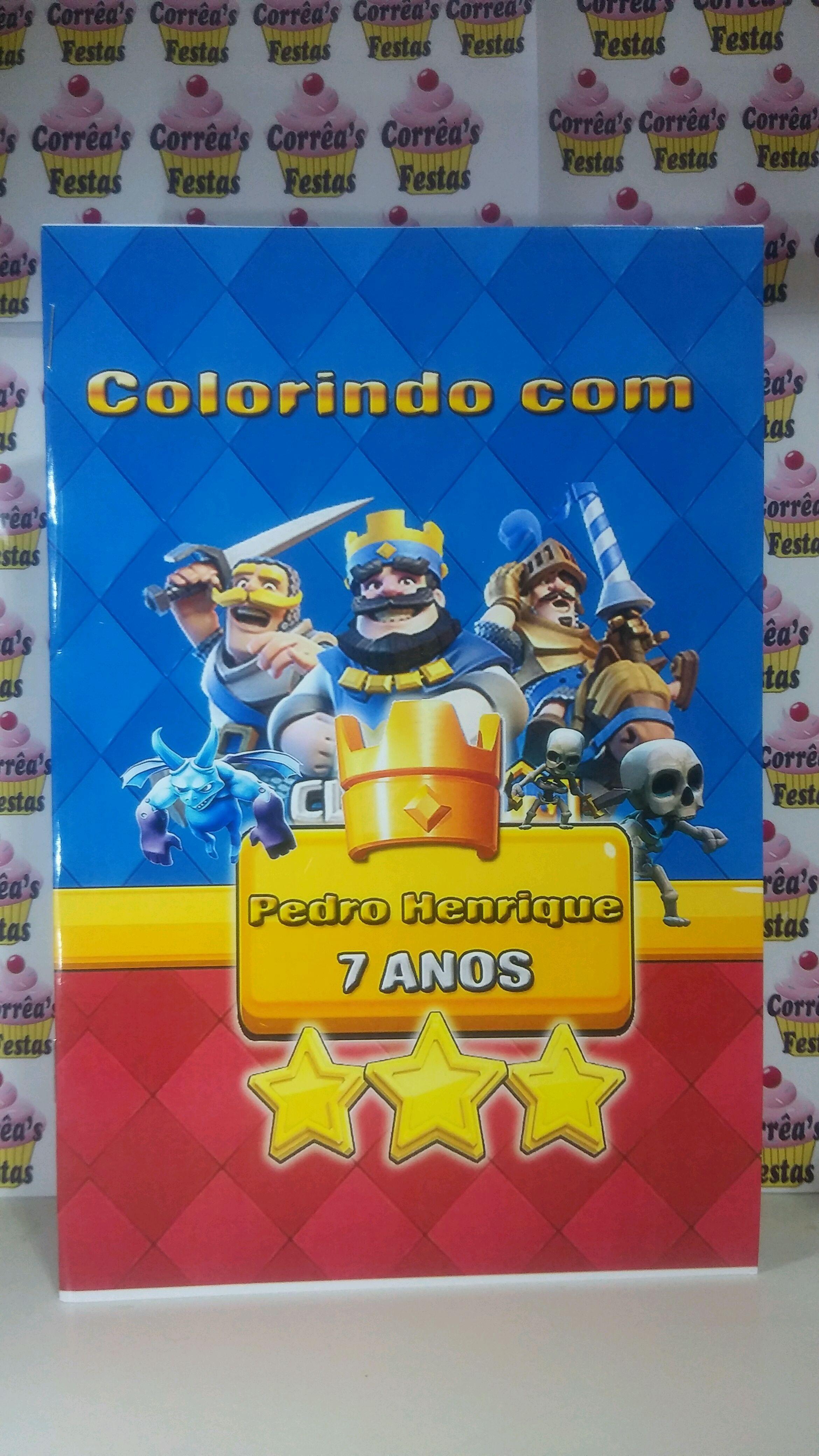 Revistinha De Colorir Clash Royale No Elo7 Correas Festas A9b475