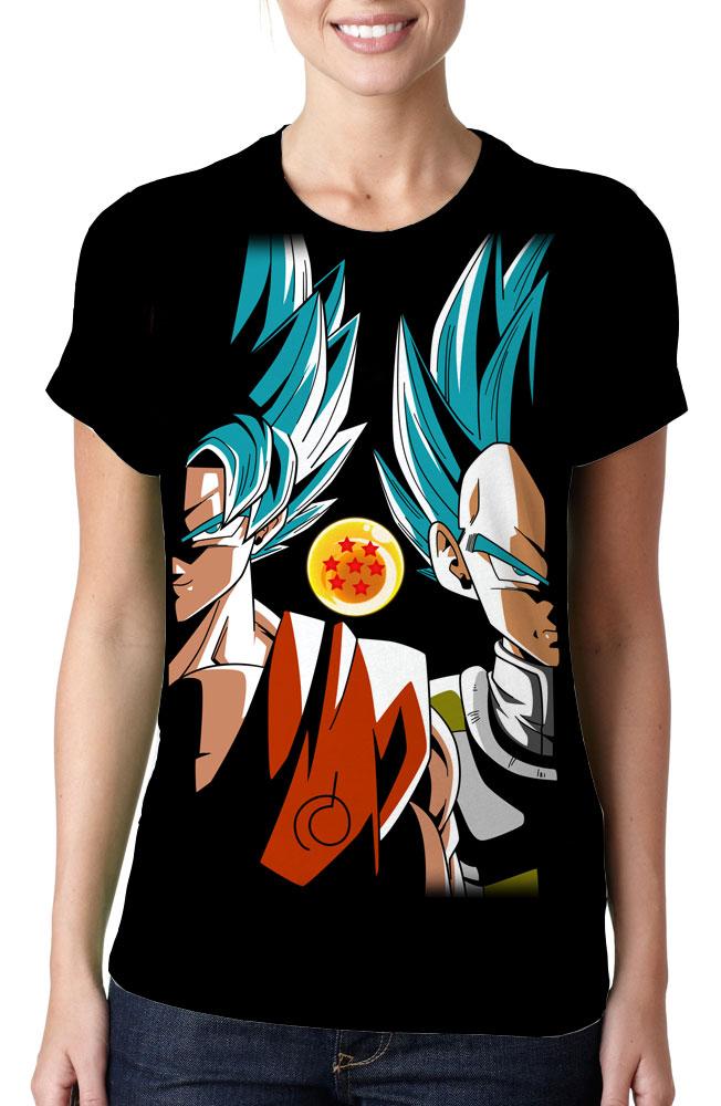ee06f3391 Camiseta Dragon Ball Super Goku E Vegeta Face Estampa Total no Elo7 ...