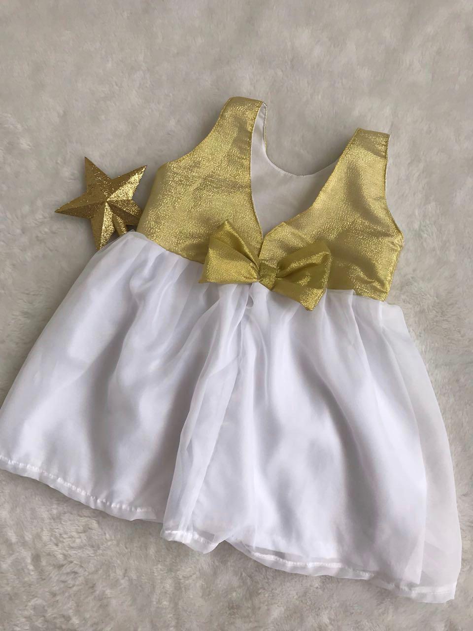 3e24c93b2e Vestido branco ano novo bebê e infantil no Elo7