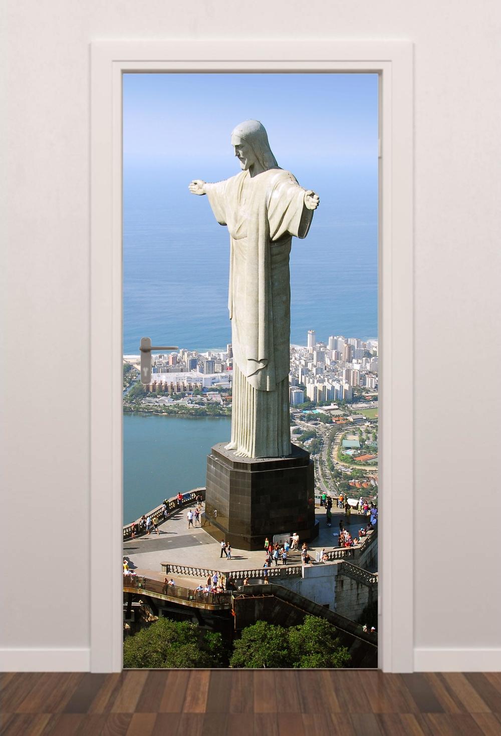 41caf7c79c9 Adesivo Porta Cristo Redentor Quarto Sala Banheiro