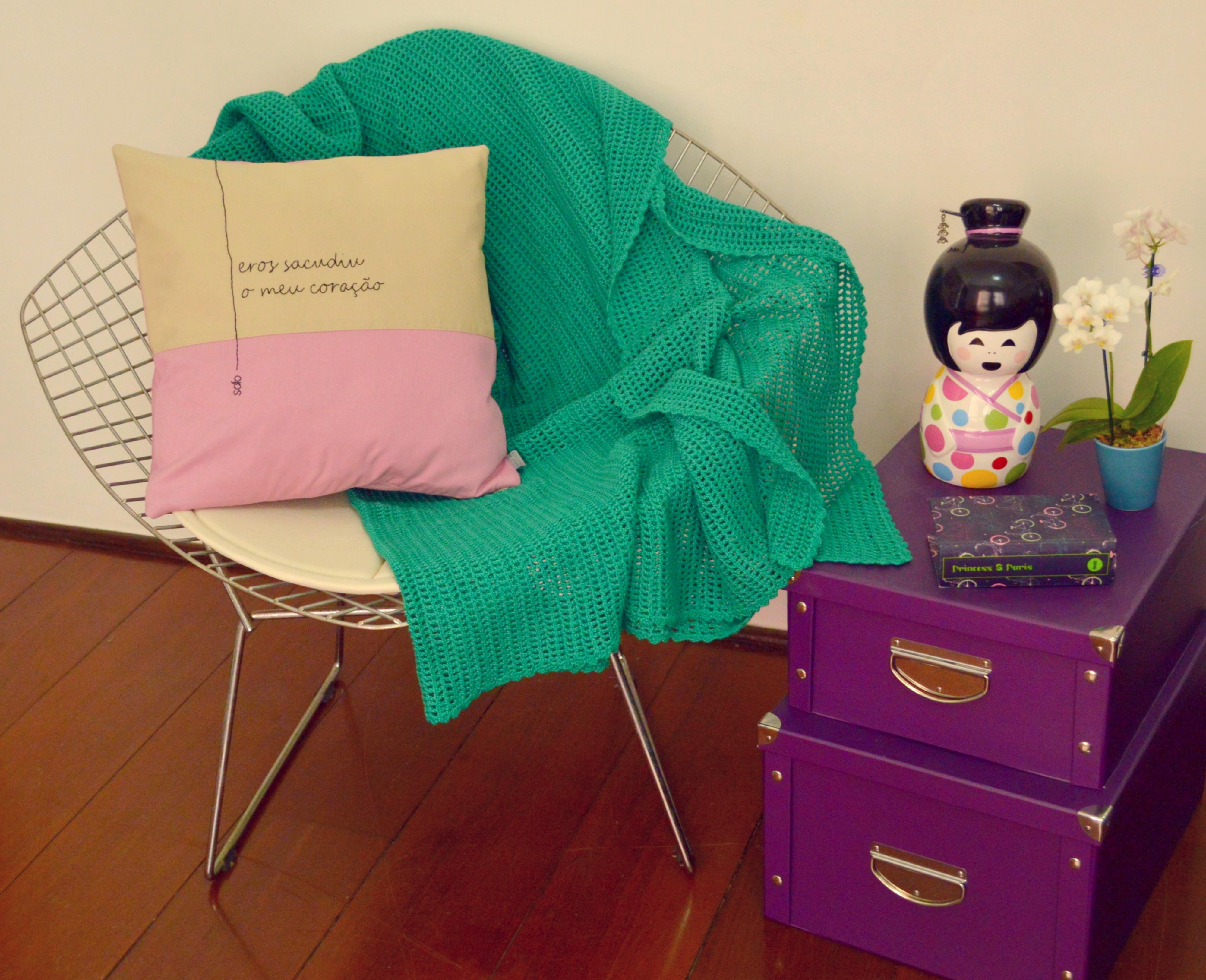 Design Of Manta de Crochê Moderna Verde e preço