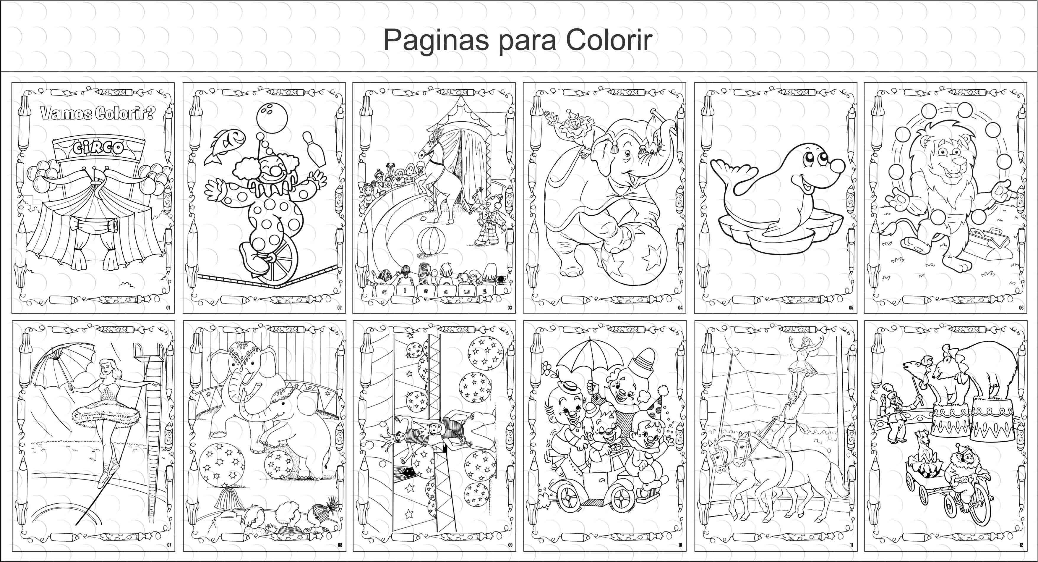 Livro De Colorir 10x15 Circo No Elo7 G A Personalize Ab12de