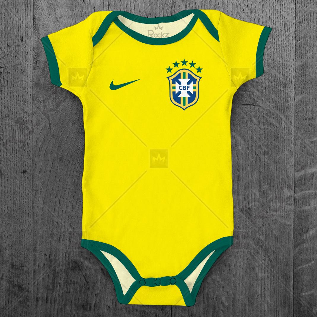 Body Bebe Futebol Brasil de Pelotas  81b4887f5be9f