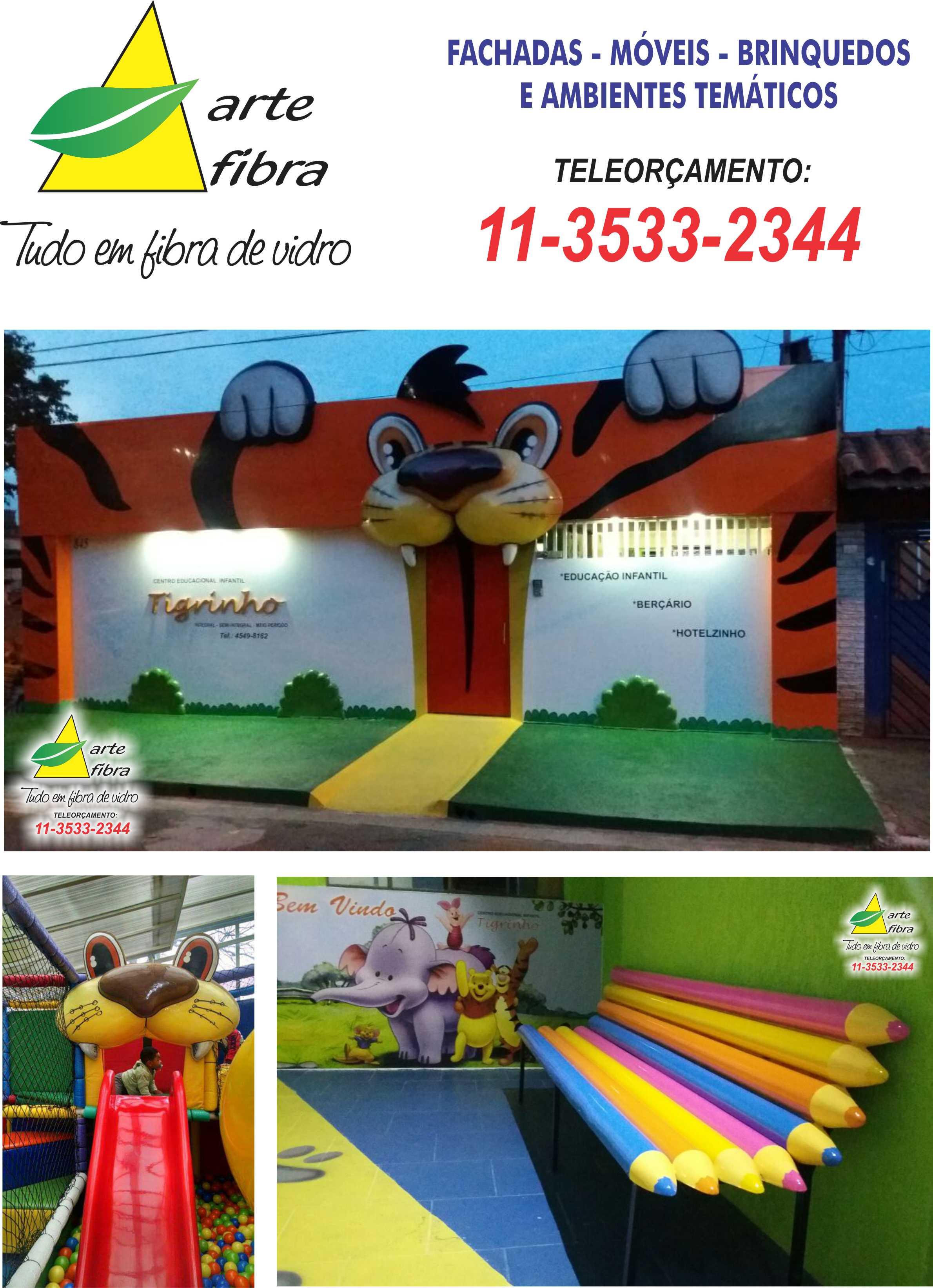 Fabuloso Fachada de escola de educação infantil no Elo7 | Arte Fibra  XG23
