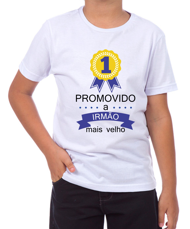 83fc281f051d Camiseta fui promovido a irmão mais velho no Elo7 | Criazopa (AC40B3)