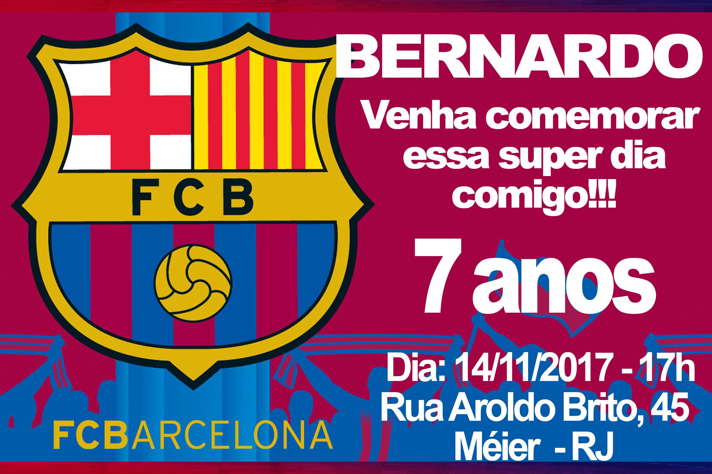 Convite Barcelona Elo7