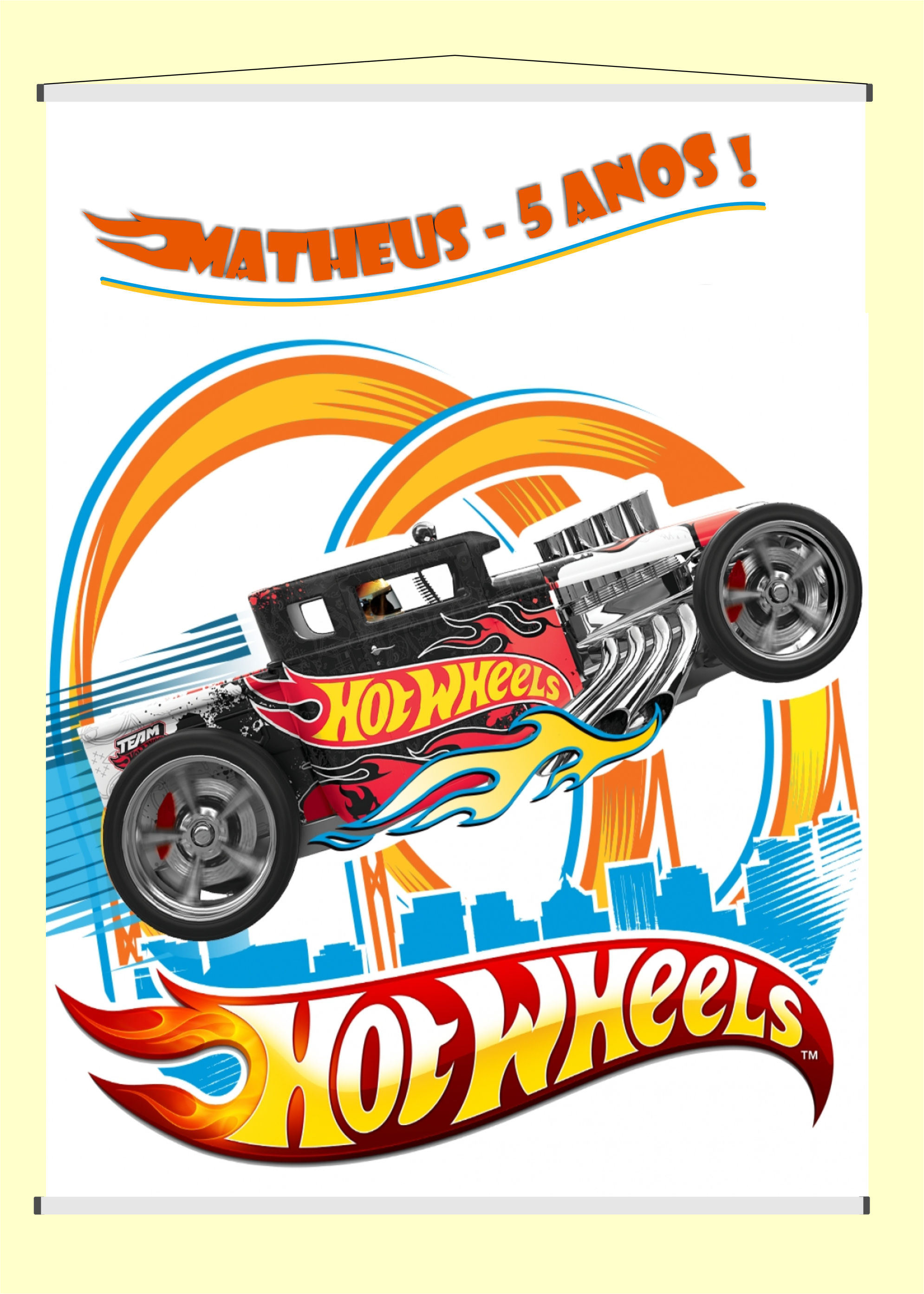 Banner Infantil Hot Wheels No Elo7 Aloprint Ac9ea8