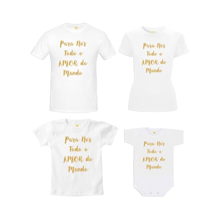 Kit Camiseta Todo Amor Do Mundo No Elo7 Toca Do Panda Acdd0d