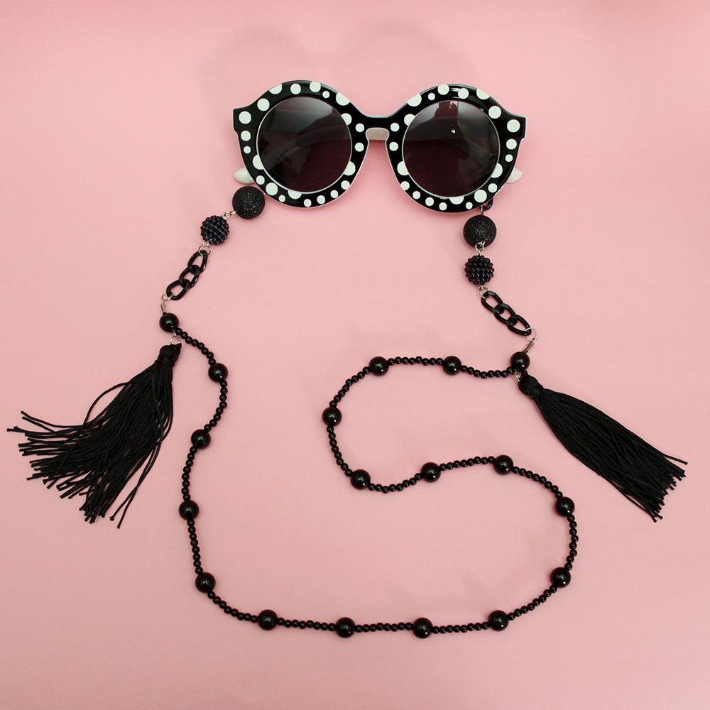 04080c9d788d0 Corrente de óculos Black Mamba (cordinha de óculos) no Elo7   É tipo Audrey  (ACF9B1)