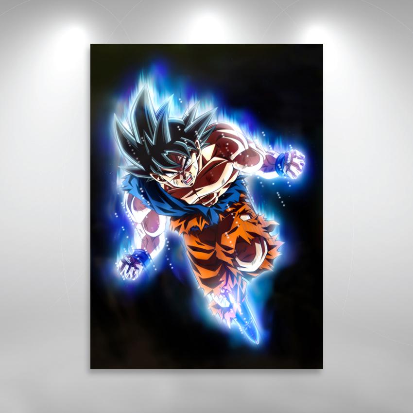 Placa Decorativa Dragon Ball Goku Instinto Superior