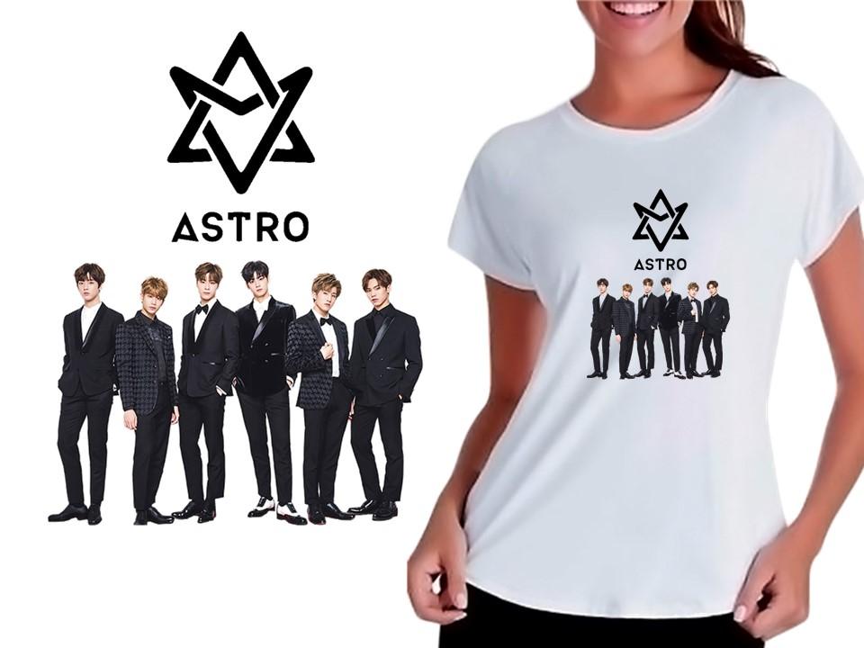 f6117c926d Camiseta Baby Look Feminina Kpop Astro K-pop no Elo7