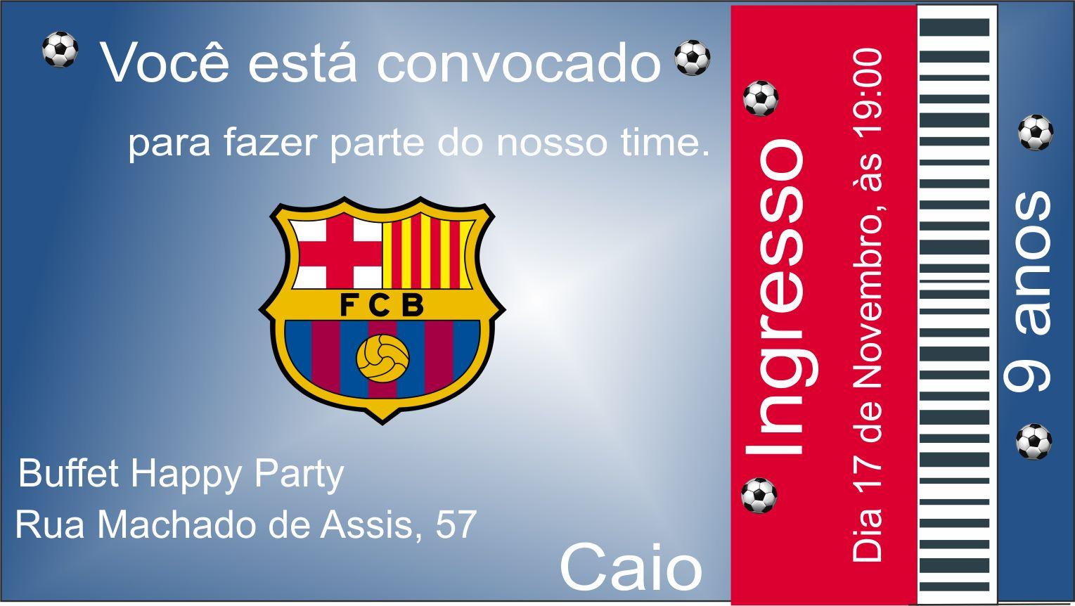 Convite Barcelona No Elo7 Yume Craft Convites Ad915b