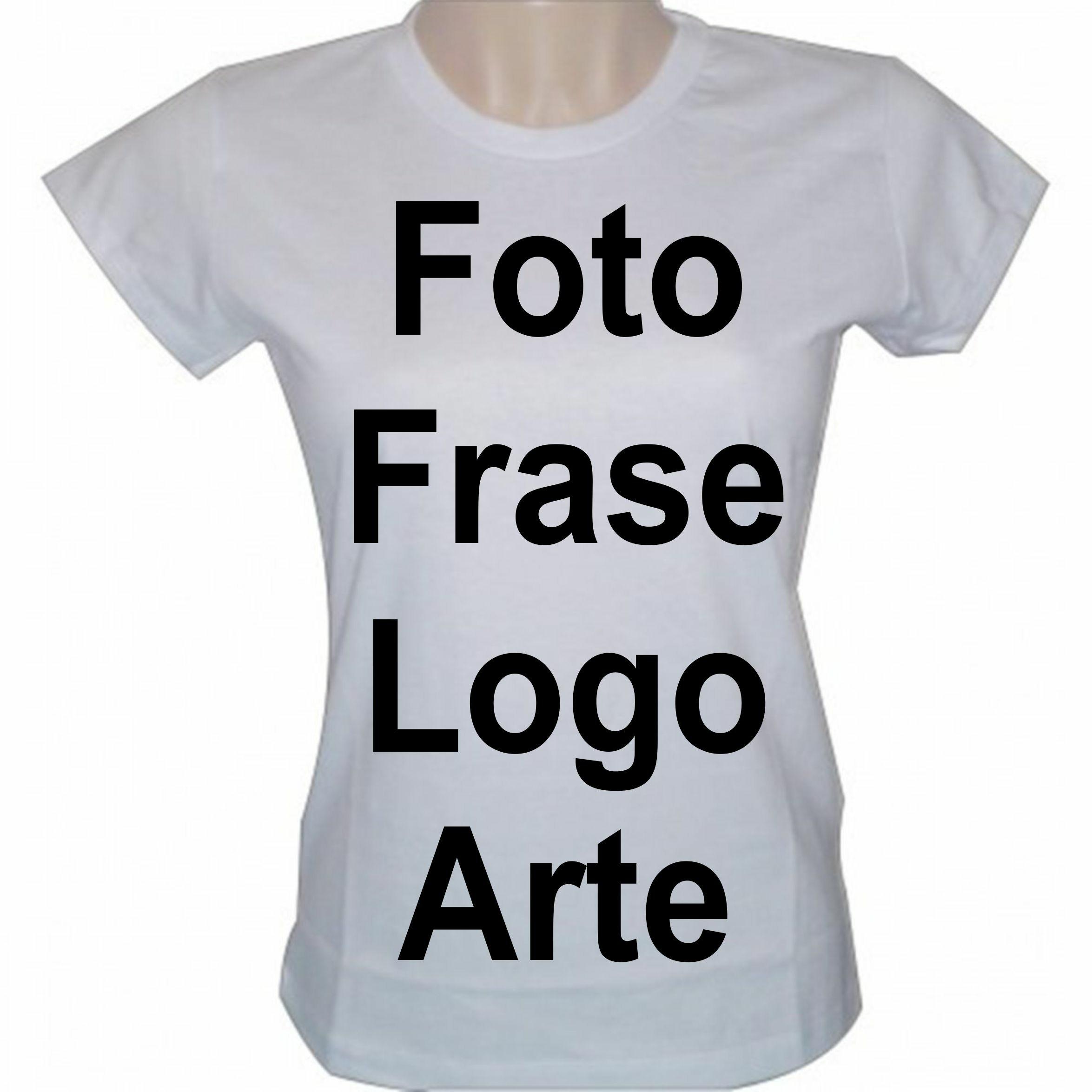46aae1a4fc Camiseta Baby Look Personalizada