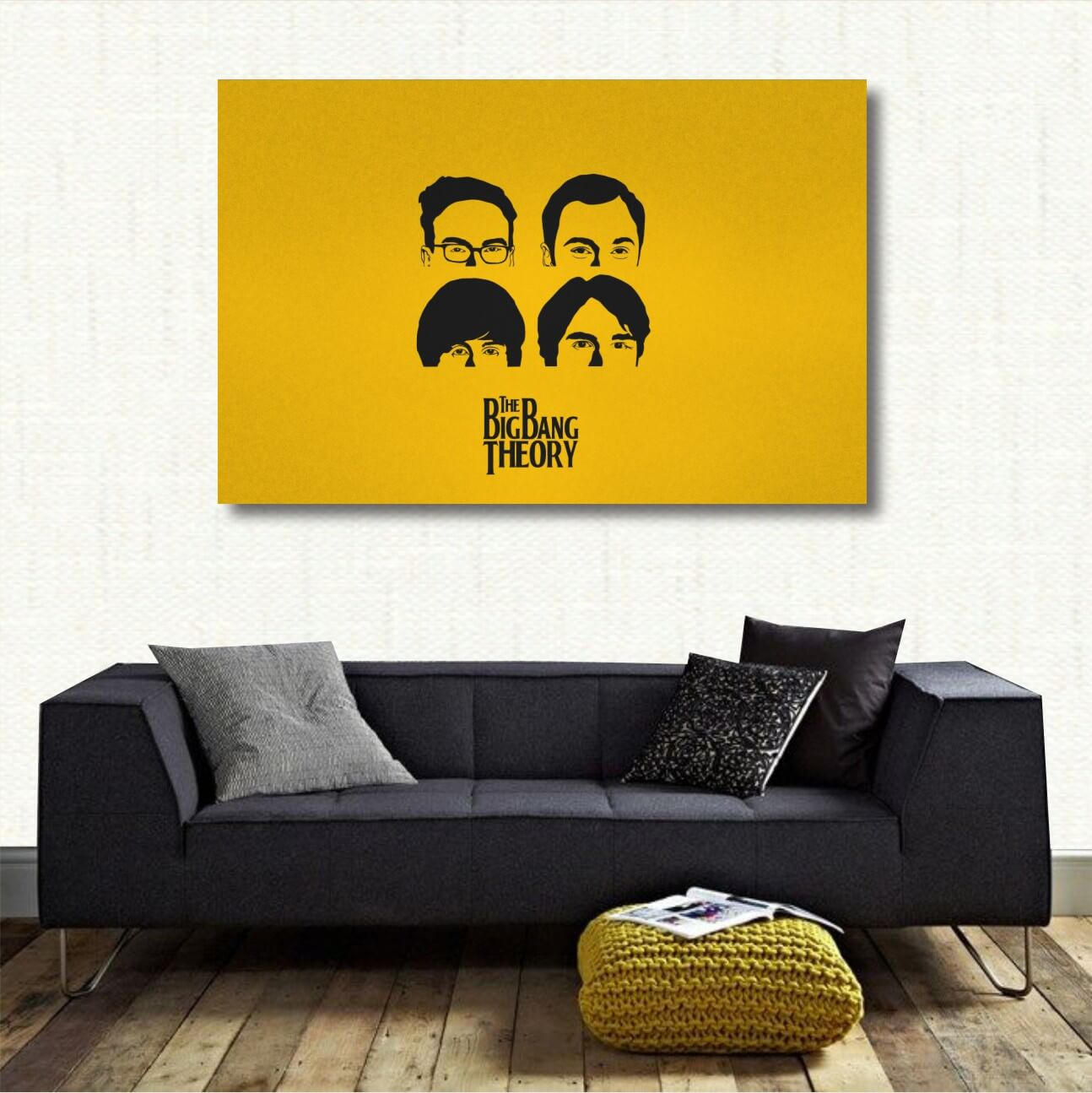 Quadro decorativo The Big Bang Theory - TBBT Série em Tecido no Elo7 ...