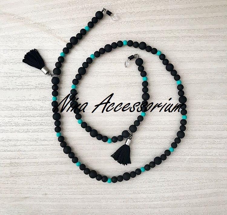 Sunglass chain correntinha para óculos hippie chic pompons no Elo7   Nina  Accessorium (A7C9EF) cc485df33e