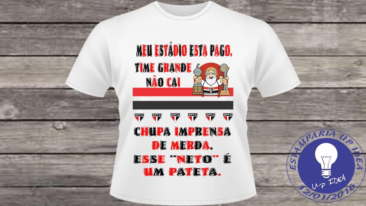 9b75e50d63 Camisetas Personalizadas Time Sao Paulo | Elo7