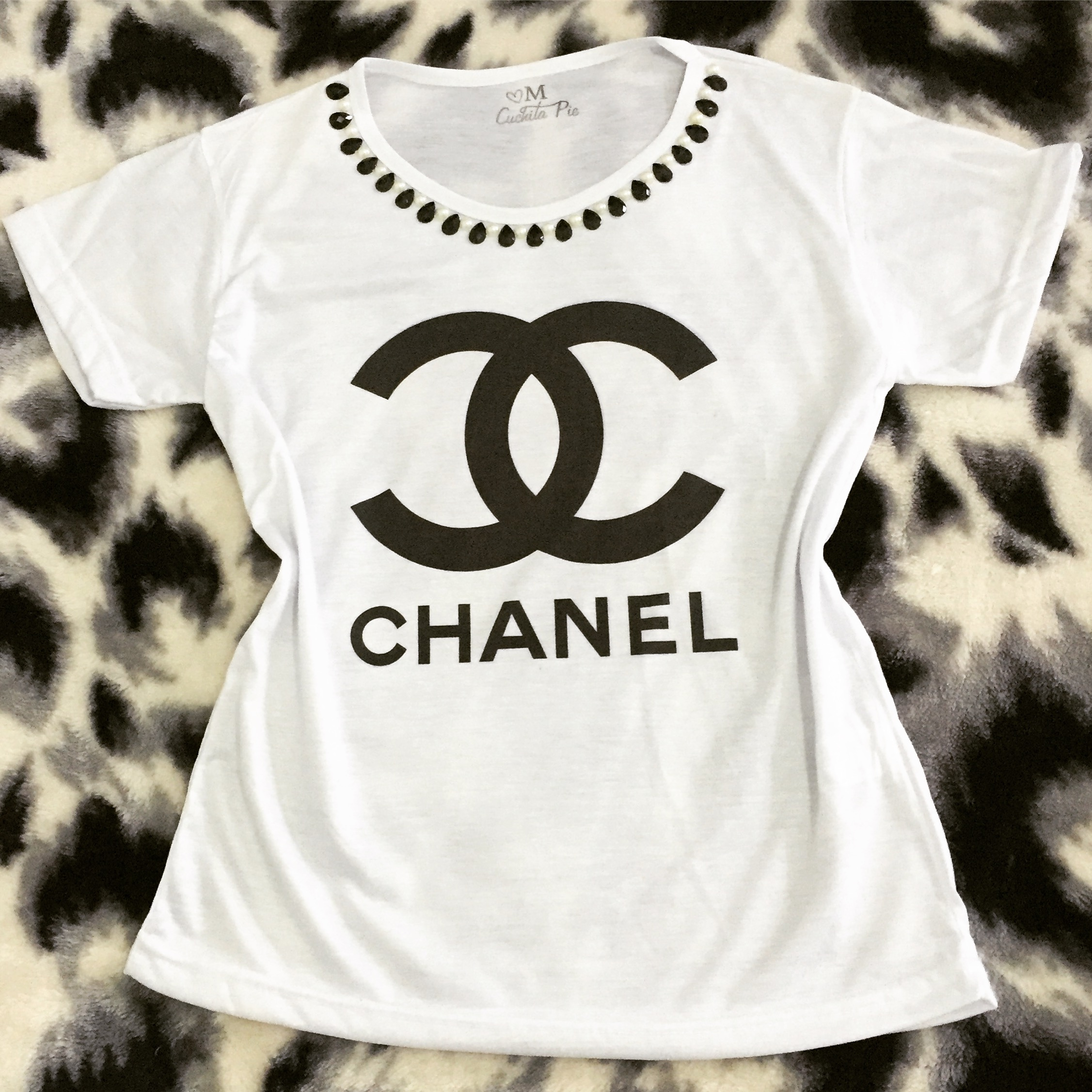 Baby look Customizada Chanel S­mbolo Clássica no Elo7