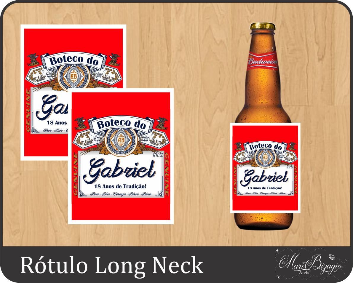 dfe0218d7a258 Porta Long Neck Budweiser   Elo7