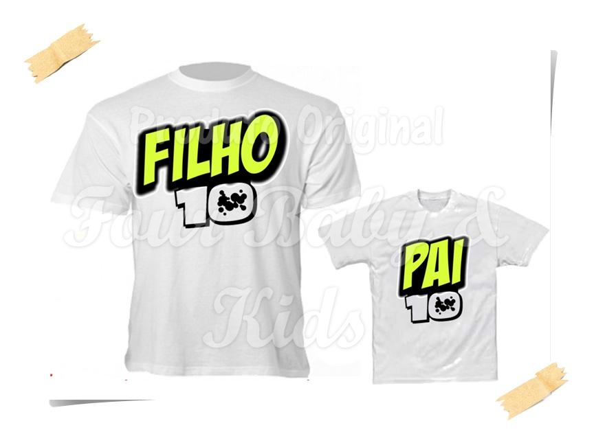 Camiseta Divertida Pai e Filho Pizza  b3f94b21db680