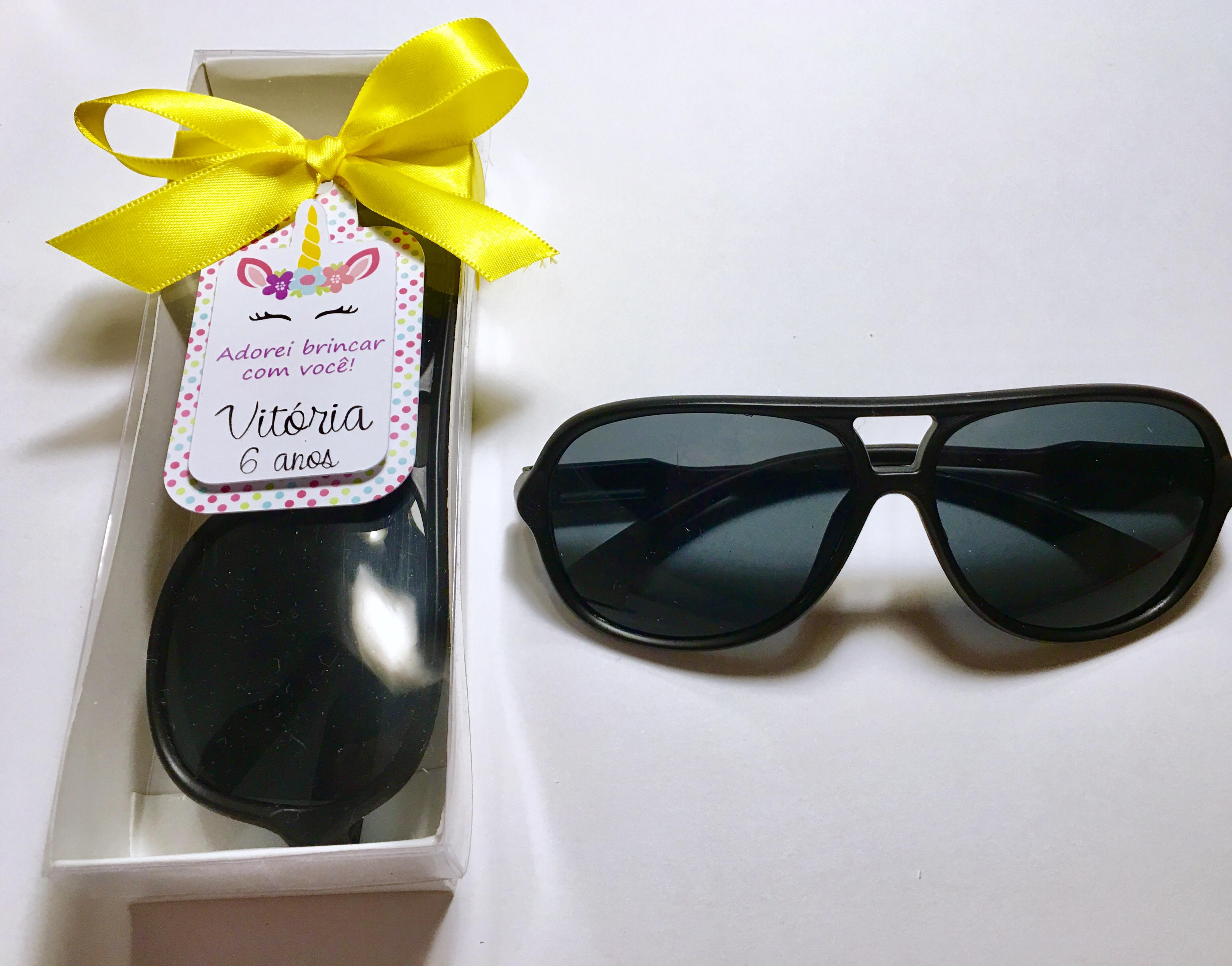 6e08b8aaa Lembrança óculos escuros infantil festa Unicornio no Elo7   rakiroze  (AEA9F9)
