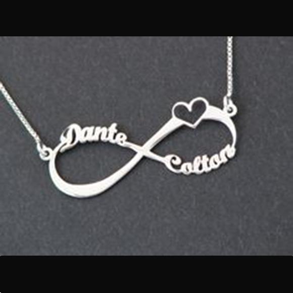 4e7101c3b42a5 Colar Corrente Infinito Amor Banhada   Elo7