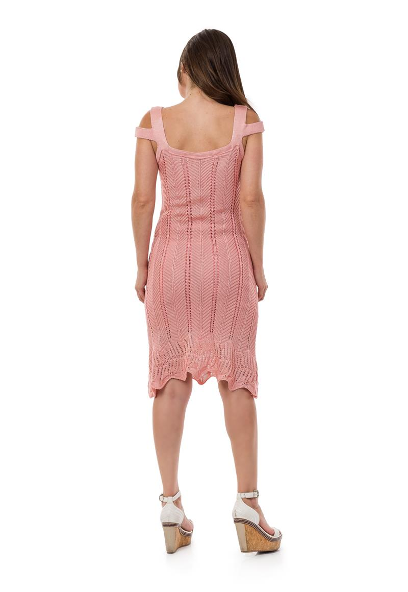 6ff5a8443f Vestido Curto Feminino Tricot Tricô Alças Rosa Claro 04964 no Elo7 ...