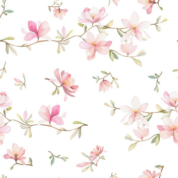 Papel De Parede Com Desenho De Flores Elo7